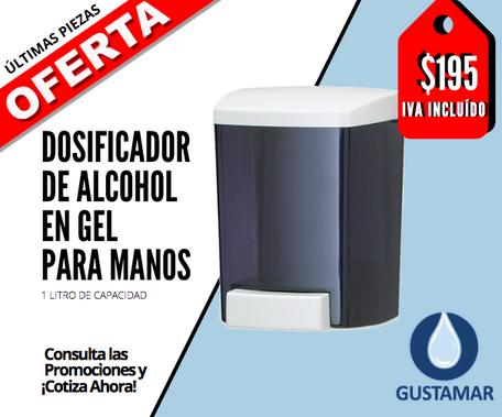PAQUETE DOSIFICADOR DE ALCOHOL EN GEL PARA MANOS / DESINFECTANTE Y SANITIZANTE