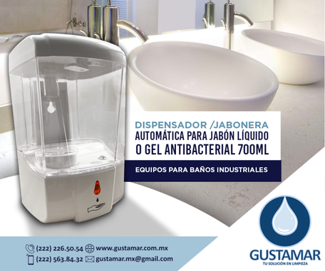 DISPENSADOR DE GEL ANTIBACTERIAL AUTOMÁTICO