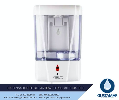 DISPENSADOR DE GEL ANTIBACTERIAL AUTOMÁTICO 2