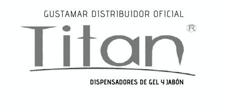DISPENSADOR DOBLE MANUAL DE GEL ANTIBACTERIAL Y JABÓN ÍQUIDO TITÁN