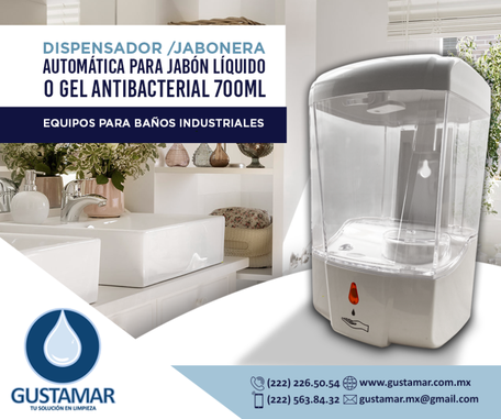 DISPENSADORES DE GEL ANTIBACTRIAL AUTOMÁTICOS