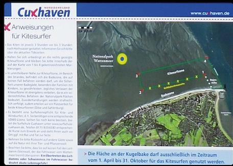 Revier Regeln Nordsee Cuxhaven Kugelbake