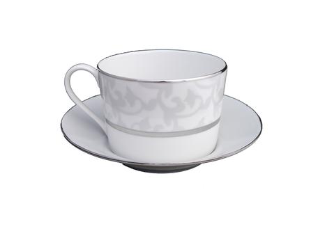 Nara Porcelaine Peinte à la main - Trianon - Tasse Droite Gris Argent et Platine