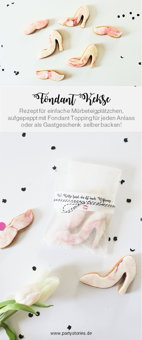Ob Kekse, Plätzchen oder Cookies - mit diesem Rezept für Mürbeteig Kekse und Fondant backst Du schnell besondere Kekse für jeden Anlass, von Partystories.de