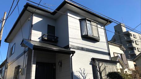さいたま市見沼区の住宅外壁塗装工事完了の写真