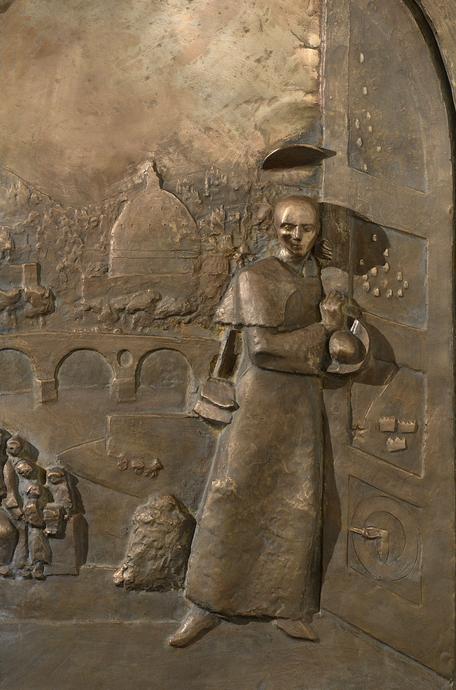 Bronze-Relief von Bildhauer Roman Brunschwiler, Gossau