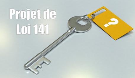 Projet de loi 141 et Loi sur le courtage immobilier