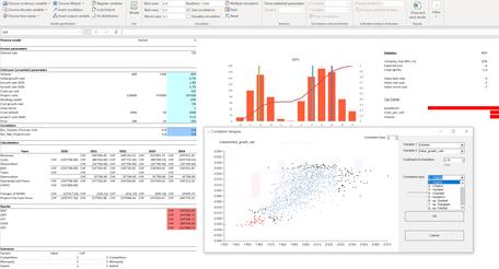 MC FLO Monte Carlo Simulation Excel correlations