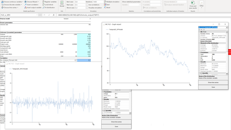 MC FLO Monte Carlo Simulation Excel time series