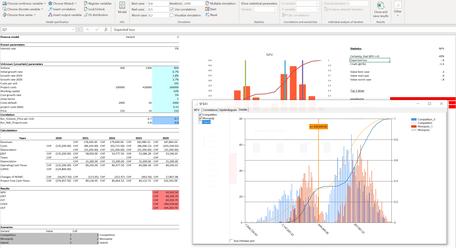 MC FLO Monte Carlo Simulation Excel fitting distributions