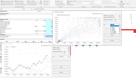 MC FLO Monte Carlo simulación Excel correlaciones