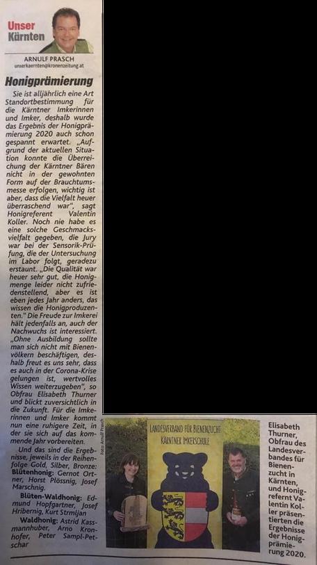 Foto: In der Kronen Zeitung vom 09.11.2020