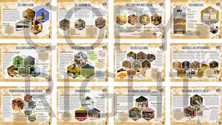 "Kärntner Bienenlehrpfad inkl. individueller Eingangstafel und Tafel ""Kärntner Imkerschule"""