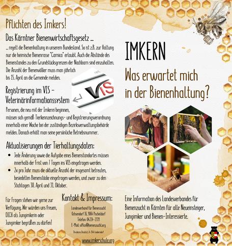 Imkern - was erwartet mich in der Bienenhaltung? Titel- Rückseite