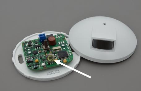 Detector die gebruik maakt van fotodiode