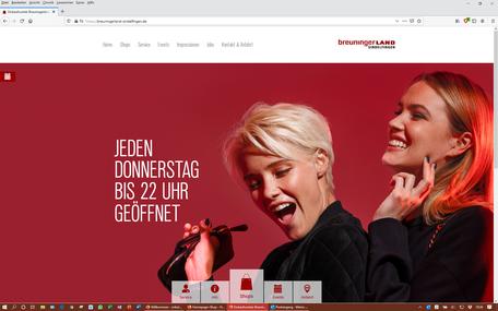 Breuningerland Sindelfingen (TYPO3-Website)