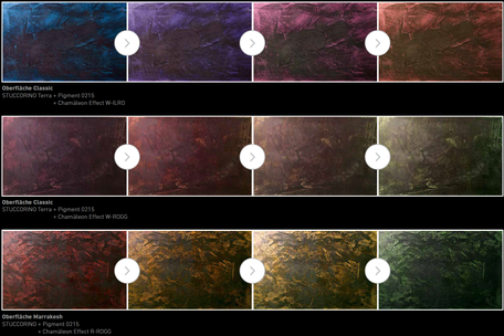 Farbwechsel Wand-Chamäleon Effect-Flipflop Wand-Camaeleon Wandgestaltung
