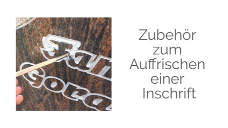 Farbe Stein Naturstein Grabinschrift Schrift ausstreichen