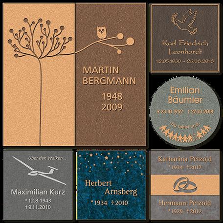 Bronzetafel Rasengrab Rasenplatte Schriftplatte