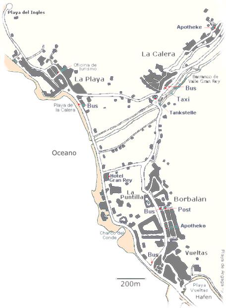 Karte Valle Gran Rey/La Gomera