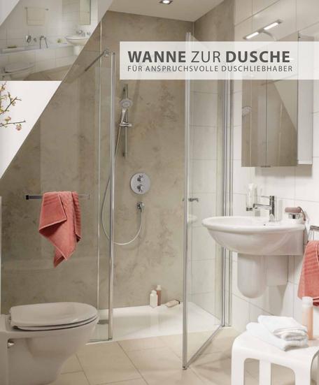 Austausch der Badewanne gegen ein ebenerdiges Duschboard