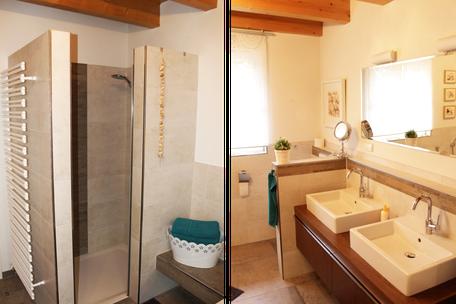 Die Dusche und Toiletten der Ferienwohnung Gengenbach sind modern eingerichtet. Wir achten auf Sauberkeit.