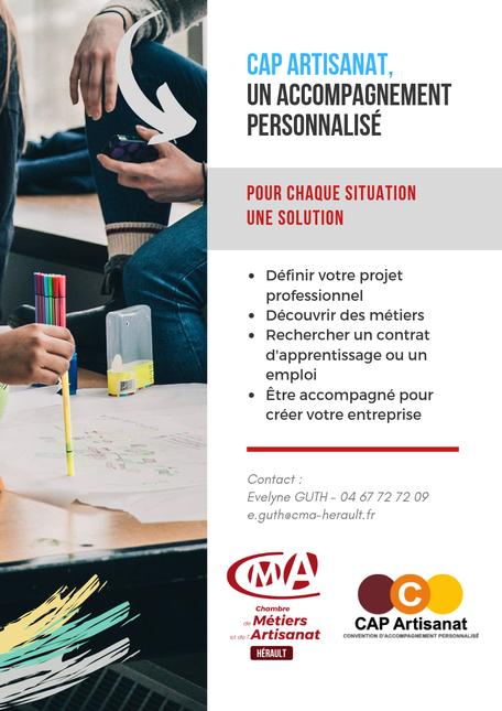 Occitanie CMA34 École des Métiers Hérault Montpellier CAP Artisanat formation accompagnement