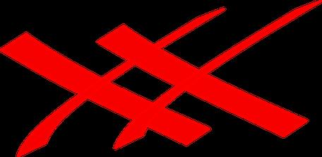 Zwei Kreuze symbolisieren, dass es wichtig ist