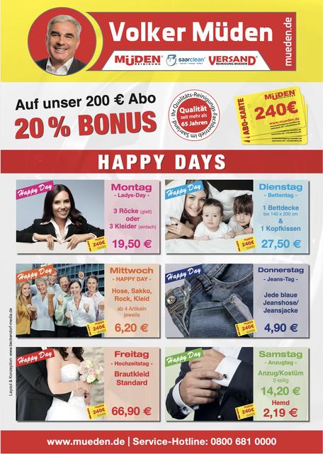 mueden.de, aktuelle Werbung, Happy Day 2020