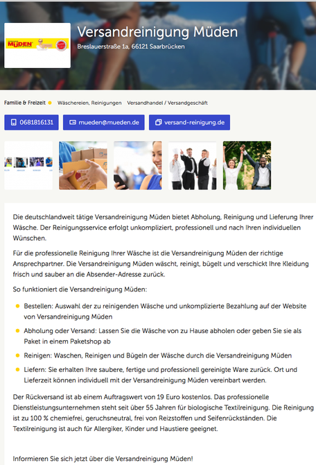 ALLESPROFIS, Bild saarclean Versandreinigung