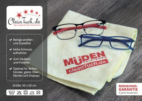 mueden.de, Cleantuch, Bedienungsanleitung Cover Frontseite