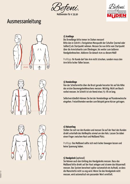 mueden.de, masshemd, Gesichtsmaske, Ausmessanleitung Seite #2 Arm
