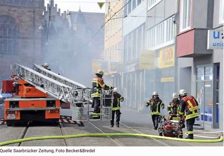 BLOG, Hausbrand Großherzog-Friedrich-Strasse 12 in Saarbrücken neben Müden Reinigung