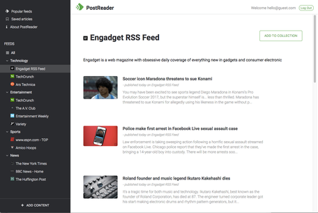 PostReader Screenshot