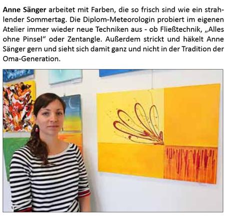 Ausstellung Signaturen im Rathaus Lübben - Artikel Stadtanzeiger Nr.6/2018
