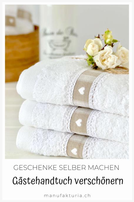 DIY Handtuch mit Borte verschönern