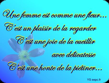 Une femme est comme une fleur