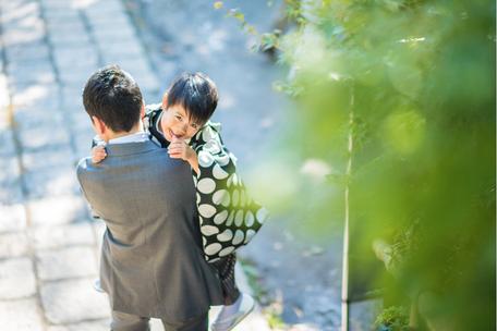 七五三撮影 北井香苗 出張カメラマン 出張撮影 5歳七五三 東京 深大寺 家族写真 ロケーションフォト 七五三