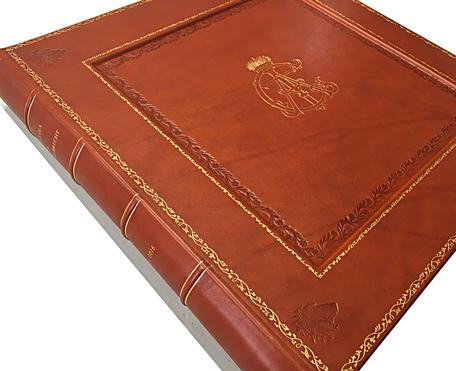 Album foto in pelle decorati in oro di gran lusso e pregio