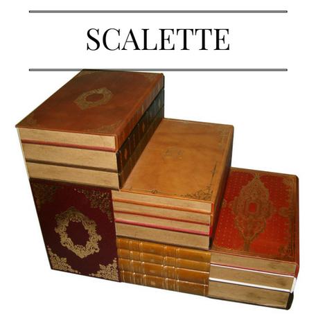 scale, scalette pelle, libri finti