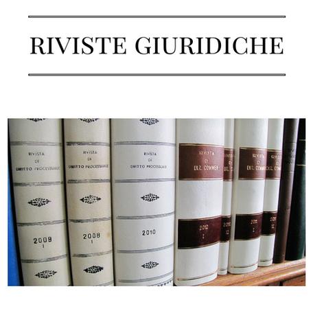 Rilegatura riviste giuridiche