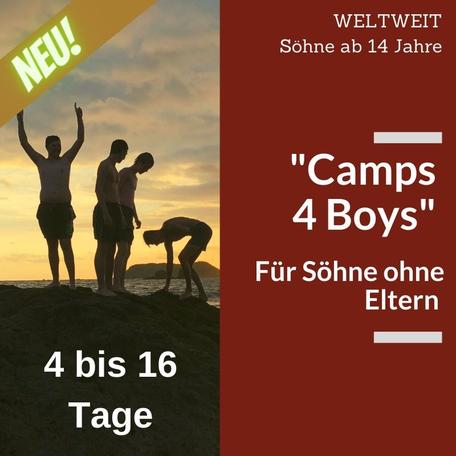"""""""Camps 4 Boys"""" - Ohne Eltern in den Urlaub fahren"""