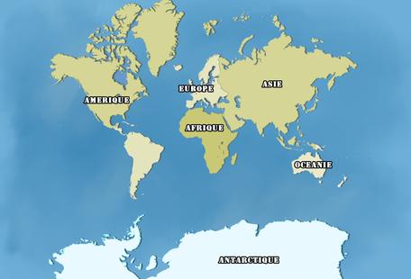 Carte Mondiale des années 2000