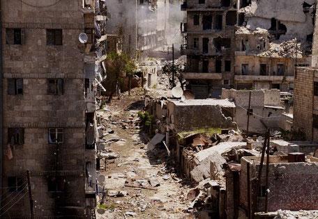 Byen Aleppo, april  2013