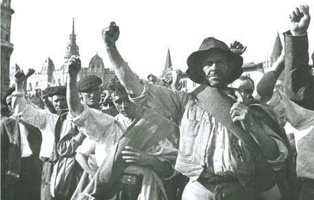 Anarkistiske landarbejdere , Spanien 1936