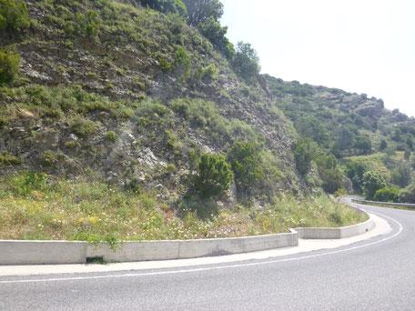 Bergstraße in Sardinien SP28