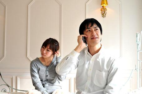 家族から電話がかかってきた時にホテルでも電話に出る非モテ