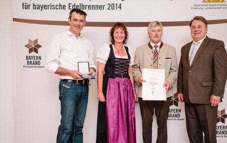 Staatsehrenpreis für beste Brenner, Ulrike und Peter Ganal;