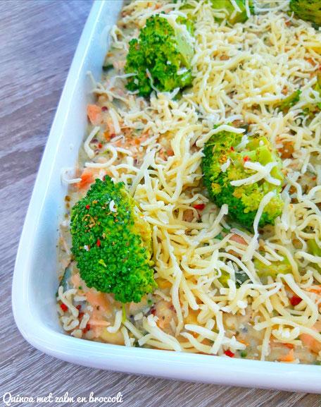 Quinoa met zalm en broccoli