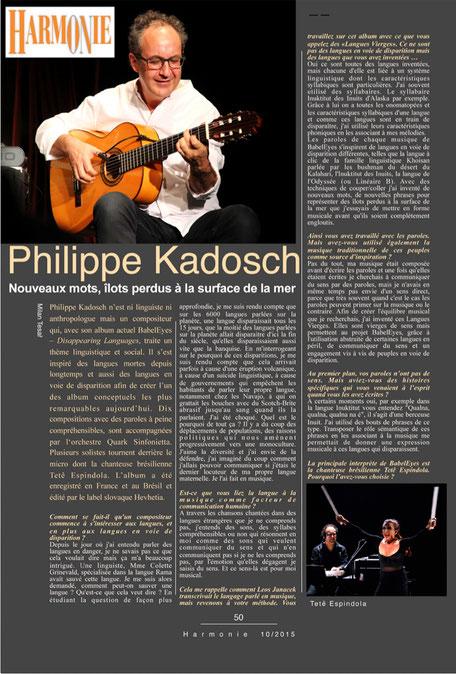 vague(s) magazine pureplayer, intuitif et évolutif : entretien avec Philippe Kadosch, compositeur et musicien